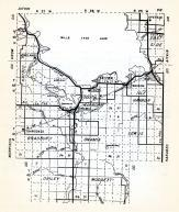 Mille Lacs County 1, Vineland, South Harbor, Onamia, Wahkon, Bradbury, Lewis, Dailey, Mudgett, Minnesota State Atlas 1954