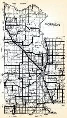 Morrison County 1, Motley, Rosing, Scandia Valley, Rail Prairie, Cushing, Clough, Parker, Darling, Culdrum, Minnesota State Atlas 1954