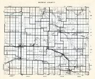 Murray County, Ellsborough, Skandia, Lake Sarah, Sheter, Mason, Cameron, Lowville, Dovray, Minnesota State Atlas 1954