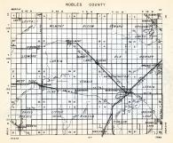 Nobles County, Leota, Wilmont, Bloom, Seward, Graham, Lismore, Larkin, Ransom, Begelow, Indian Lake, Minnesota State Atlas 1954