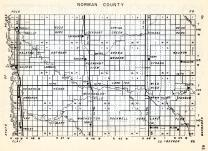 Norman County, Shelly, Good Hope, Lockhart, Spring Creek, Bear Park, Halstad, Anthony, Green Meadow, Minnesota State Atlas 1954