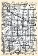 Otter Tail County 2, Gorman, Perham, Pine Lake, butler, Paddock, Deer Creek, Girard, Henning, Folden, Eagle Lake, Parkers Prairie, Minnesota State Atlas 1954