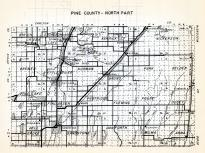 Pine County - North, Birch Creek, Sturgeon Lake, Kerrick, Nickerson, Windemere, Bremen, Kettle River, Norman, Bruno, Minnesota State Atlas 1954