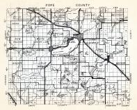Pope County, Nora, Ben Wade, New Prairie, White Bear Lake, Minnewaska, Walden, blue Mounds, Barsness, Chippewa Falls, Minnesota State Atlas 1954