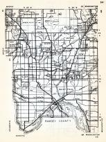 Ramsey County, Moundsview, Arden Hills, New Brighton, Roseville, White Bear, Little Canada Station, Saint Paul, Gladstone, Minnesota State Atlas 1954