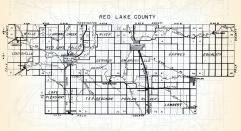 Red Lake County, Wylie, Browns Creek, Louisville, Gervais, Emardville, Garnes, Lake Pleasant, Terrebonne, Poplar River, Lambert, Minnesota State Atlas 1954