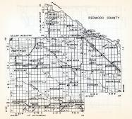 Redwood County, Underwood, Sheridn, Vesta, New Avon, Westline, Johnsonville, Gales, Springdale, Walnut Grove, Lamberton, Minnesota State Atlas 1954