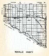 Renville County 1, Wang, Ericson, Crooks, Winfield, Hawk Creek, Sacred Heart, Emmet, Troy, Flora, Minnesota State Atlas 1954