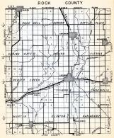 Rock County, Rose Dell, Denver, Battle Plain, Spring Water, Mound, Vienna, Beaver Creek, Luverne, Minnesota State Atlas 1954