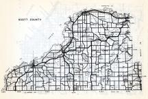 Scott County, Blakeley, Belle, Plaine, St. Lawrence, Sand Creek, Jackson, Louisville, Eagle Creek, Minnesota State Atlas 1954
