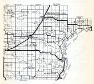 Sibley County 2, New Auburn, Green Isle, Washington Lake, Faxon, Arlington, Jessenland, Sibley, Kelso, Henderson, Minnesota State Atlas 1954