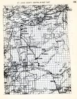 St. Louis County - Central and East, Vermillian Lake, Brietung, Kugler, Wahlsten, Allan, Wyman, Bassett, Bert, Morse, Minnesota State Atlas 1954