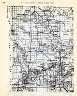 St. Louis County - Central and West, Willow Valley, Meadow Brook, Celina, Linden Grove, Haley, Field, Cook, Owens, Minnesota State Atlas 1954