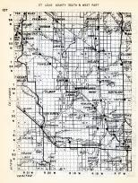 St. Louis County - South and West, Riley, Ton, Frederick, Omega, McDavitt, Stuart, Darrow, Toivola, Cedar Valley, Minnesota State Atlas 1954