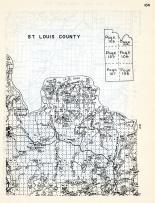 St. Louis County 1, Dove, Astrol, Hilda Creek, big Lake, Loon Lake, Harriman, Sandpoint Lake, Trout Lake, Minnesota State Atlas 1954