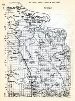 St. Louis County North and West, Rainy Lake, Kinmount, Ash Lake, Cusson, Orr, Glendale, Gheen, Beatty, Buyck, Taf, Minnesota State Atlas 1954