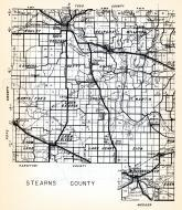 Stearns County 1, Ashley, Sauk Centre, Melrose, Millwood, Raymond, Getty, Grove, Oak, North Fork, Lake George, Minnesota State Atlas 1954