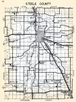 Steele County, Deerfield, Medford, Merton, Clinton Falls, Meriden, Havana, Lemond, Somerset, Aurora, Berlin, Summit, Minnesota State Atlas 1954