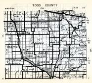 Todd County 1, Hewitt, Stowe Prairie, Staples, Bartlett, Villard, Germania, Bertha, Moran, Fawn Lake, Eagle Bend, Minnesota State Atlas 1954