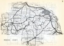 Wabasha County, Shester, Mount Pleasant, Gillford, West Albany, Hyde Park, Mazeppa, Zumbro, Oakwood, Highland, Minnesota State Atlas 1954