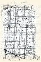 Wadena County, Blueberry, Huntersville, Rockwood, North Germany, wing River, Bullard, Wadena, Aldrich, Thomastown, Minnesota State Atlas 1954