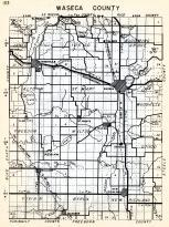 Waseca County, Janesville, Blooming Grove, Freedom, Wilton, St. Mary, Woodville, Otisco, Vivian, Byron, New Richland, Minnesota State Atlas 1954