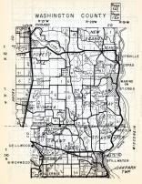 Washington County, Forest Lake, New Scandia, Hugo, Oneka, May, Grant, Stillwater, Minnesota State Atlas 1954