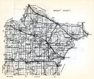 Wright County, Stearns, Albion, Cokato, Middleville, Woodland, Franklin, Victor, Stockholm, Otsego, Minnesota State Atlas 1954