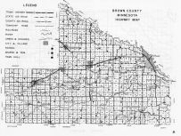 Brown County Highway Map, Minnesota State Atlas 1956