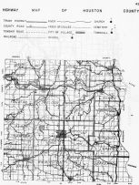 Houston County Highway Map, Caledonia, Minnesota State Atlas 1956