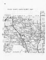 Itasca County - North and West, Minnesota State Atlas 1956