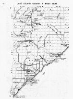 Lake County - South and West, Minnesota State Atlas 1956