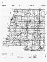 Le Sueur County Highway Map, Minnesota State Atlas 1956