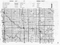 Norman County Highway Map, Minnesota State Atlas 1956