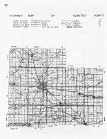 Olmsted County Highway Map, Minnesota State Atlas 1956
