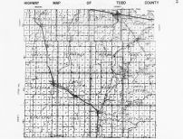 Todd County Highway Map 1, Minnesota State Atlas 1956