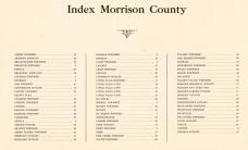 Table of Contents, Morrison County 1920c