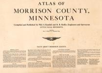 Title Page, Morrison County 1920c