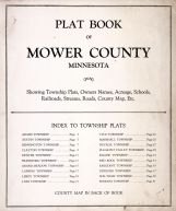 Index Page, Mower County 1915