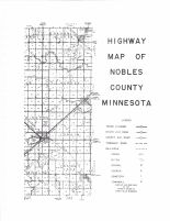 Noble County Highway Map - East, Nobles County 1951