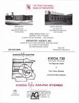 First National Bank of Brewster, KWOA Radio, Nobles County 1989