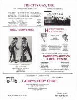 Tri-City Gas Inc., Bell Surveying, Harberts Bros Auctioneers, Larry's Body Shop, Nobles County 1989