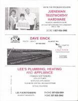 Jueneman Trustworthy Hardware, Dave Einck, Lee's Plumbing, Heating and Appliance, Nobles County 1989