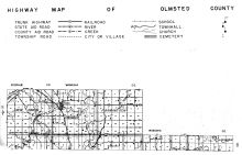 Olmsted County Highway Map 1, Olmsted County 1956