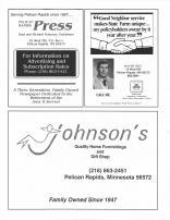 Pelican Rapids Press, State Farm Insurance Wayne Irey, Johnsons Quality Home Furnishings And Gift Shop, Otter Tail County 1995