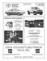 Quality Toyota, Chucks Auto Repair, Crown Realty, Coca-Cola Bottling Fergus Falls, Otter Tail County 1995