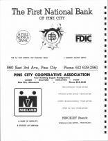 First Natioal Bank of Pine City, Pine City Cooperative Association, Pine County 1972