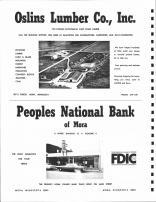 Oslins Lumber Co,. People National Bank of Mora, Pine County 1972