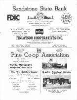 Sandstone State Bank, Finlayson Cooperatives, Pine Co-Op Association, Pine City Builders Supply, Kroghs, Pine County 1972
