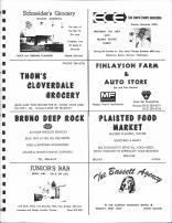 Schneiders Grocery, East Central Electric Association, Thoms Cloverdale Grocery, Bruno Deep Rock, Juniors Bar, Pine County 1972
